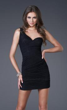 Picture of: Form Fitting One Shoulder Short Dress, Style: 15833, Main Picture