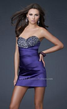 Picture of: Strapless Stretch Satin Prom Dress, Style: 15858, Main Picture