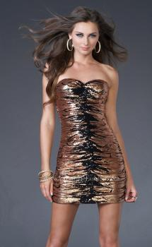 Picture of: Sequined Cocktail Dress with Form Fitting Shape, Style: 15890, Main Picture