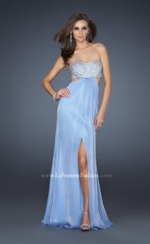 Picture of: Strapless Chiffon Gown with Beaded Bodice in Light Purple, Style: 16291, Main Picture