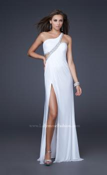 Picture of: One Shoulder Prom Dress with Jeweled Trim, Style: 16379, Main Picture
