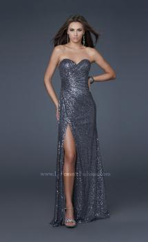 Picture of: Sweetheart Neckline Prom Gown with Gathers and a Slit, Style: 16546, Main Picture