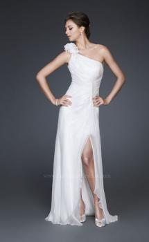 Picture of: Floral Embellished One Shoulder Silk Prom Gown, Style: 16772, Main Picture