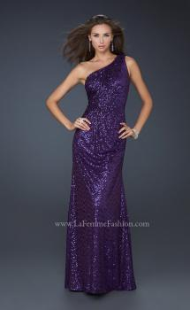 Picture of: One Shoulder Sequined Long Prom Dress, Style: 17018, Main Picture