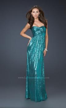 Picture of: All Over Sequined Prom Dress with Sweetheart Neckline in Blue, Style: 17085, Main Picture