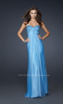 Picture of: Sweetheart Neckline Prom Dress with Beaded Detail in Blue, Style: 17114, Main Picture