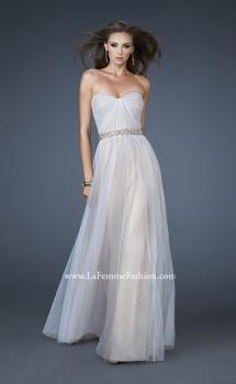 Picture of: Sweetheart Neckline Prom Dress with Beaded Belt in Nude, Style: 17150, Main Picture