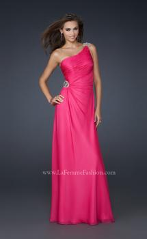 Picture of: One Shoulder Chiffon Prom Dress with Rhinestones, Style: 17259, Main Picture