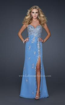Picture of: Sweetheart Neck Long Prom Dress with Font Slit and Beads, Style: 17431, Main Picture