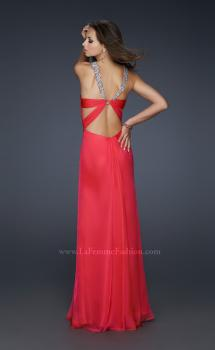 Picture of: Halter Top Dress with Beaded Straps and A-line Skirt, Style: 17441, Main Picture