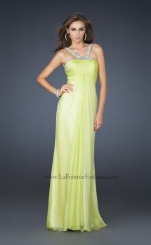 Picture of: Halter Top Dress with Beaded Straps and Draped Effect in Green, Style: 17452, Main Picture