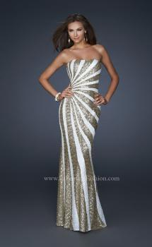 Picture of: Strapless Floor Length Gown with Gorgeous Sequin Detail, Style: 17456, Main Picture