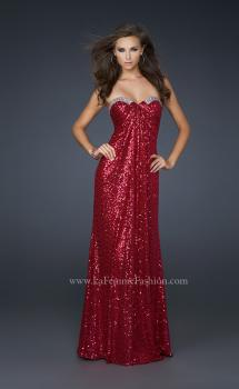 Picture of: Full Length Sequin Prom Gown with Gathered Detail, Style: 17458, Main Picture