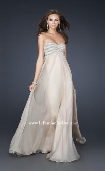 Picture of: Strapless Chiffon Dress with Sweetheart Neckline in Nude, Style: 17474, Main Picture