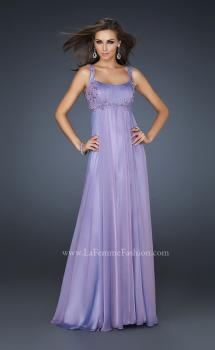 Picture of: Pleated Goddess Inspired Prom Dress with Beading in Purple, Style: 17476, Main Picture