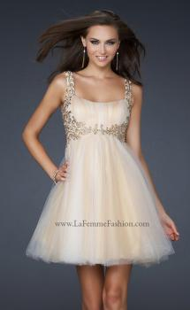 Picture of: Goddess Inspired Short Dress with Embellished Shoulders, Style: 17500, Main Picture