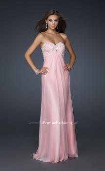 Picture of: Long Strapless Prom Gown with a Beaded Bust in Pink, Style: 17516, Main Picture