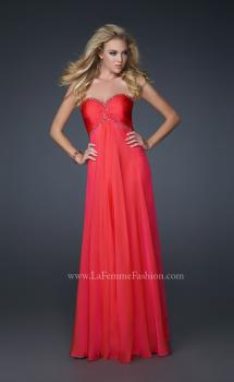Picture of: Elegant Chiffon Gown with Pleating and Beading, Style: 17527, Main Picture