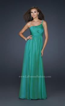 Picture of: Full Length Chiffon Gown with Embellished Shoulder Strap, Style: 17575, Main Picture