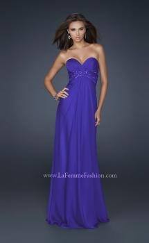 Picture of: Lightly Beaded Sweetheart Top Prom Dress with Full Skirt in Purple, Style: 17581, Main Picture
