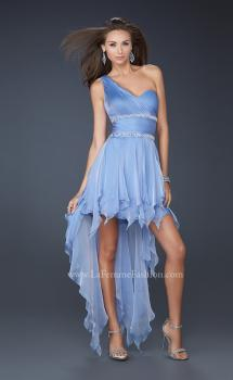 Picture of: High Low Hem Prom Gown with Embellished Waistband, Style: 17724, Main Picture