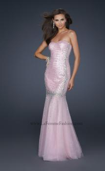 Picture of: Long Mermaid Prom Dress with Beading in Pink, Style: 17729, Main Picture