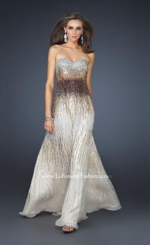 Picture of: Sequined Sweetheart Neckline Gown with Beading in Brown, Style: 17765, Main Picture