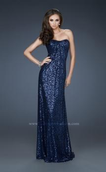 Picture of: Strapless Sequin Dress with Center Front Ruching, Style: 17924, Main Picture