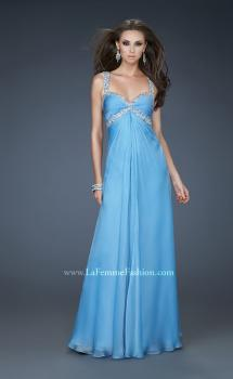 Picture of: Elegant Prom Dress with Ruched Bodice and Empire Waist in Blue, Style: 17941, Main Picture