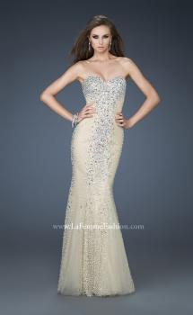 Picture of: Tulle Prom Gown with Beads and Trumpet Silhouette, Style: 18021, Main Picture