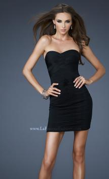Picture of: Net Mesh Cocktail Dress with Woven Weave Top in Black, Style: 18110, Main Picture