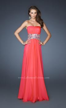 Picture of: Strapless Gown with Dramatic Waist and Rhinestones, Style: 18123, Main Picture