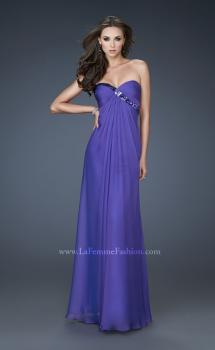 Picture of: Chiffon prom Gown with Gathered Bodice and Stones, Style: 18186, Main Picture