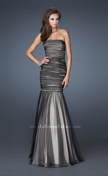 Picture of: Trumpet Style Prom Dress with Rhinestone Bodice in Black, Style: 18372, Main Picture