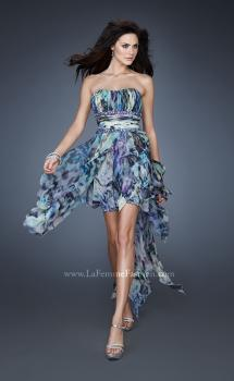 Picture of: Strapless Dress with High Low Hem and Empire Waist, Style: 18391, Main Picture