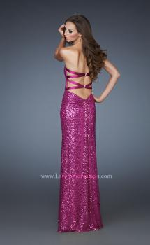 Picture of: Sequin Prom Gown Gathered Sweetheart Neckline in Pink, Style: 18414, Main Picture