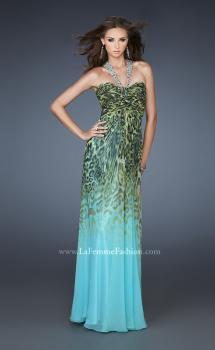 Picture of: Chiffon Dress with Ombre Animal Print and Strappy Back in Print, Style: 18436, Main Picture
