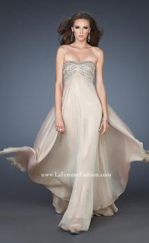 Picture of: Empire Waist Chiffon Prom Dress with Sequins and Beads in Nude, Style: 18447, Main Picture