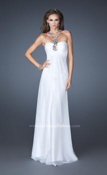 Picture of: Halter Top Long Prom Dress with Stone Embellishments, Style: 18499, Main Picture