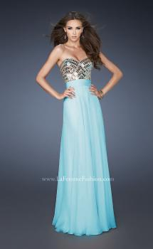 Picture of: A-line Prom Dress with Beaded Bodice and Empire Waist, Style: 18518, Main Picture