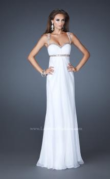 Picture of: Sweetheart Neckline Chiffon Prom Dress with Beaded Straps in White, Style: 18519, Main Picture