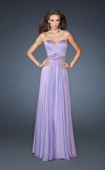Picture of: Beaded One Shoulder A-line Long Prom Dress in Purple, Style: 18533, Main Picture