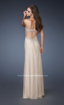 Picture of: Sweetheart Neckline Chiffon Prom Dress with Beading in Nude, Style: 18542, Main Picture