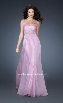 Picture of: Strapless Chiffon Long Gown with Beaded Waistline in Purple, Style: 18544, Main Picture