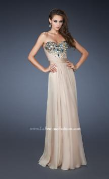 Picture of: Sweetheart Chiffon Prom Dress with Multi Colored Stones in Nude, Style: 18551, Main Picture