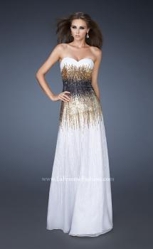 Picture of: A-line Prom Dress with Sequin Detail in White, Style: 18592, Main Picture