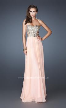 Picture of: Stone Embellished Prom Dress with Sequins and Cut Outs in Orange, Style: 18602, Main Picture