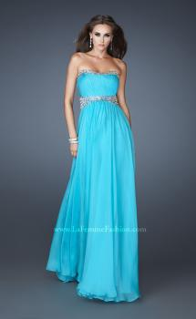 Picture of: Classic Chiffon Prom Dress with Beaded Neckline and Waist, Style: 18611, Main Picture