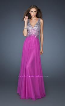 Picture of: V Neck Long Prom Dress with Fully Embellished Bodice in Purple, Style: 18631, Main Picture