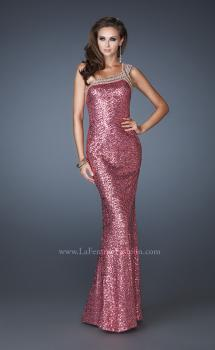 Picture of: All Over Sequin Dress with Beaded Straps and Low Back, Style: 18638, Main Picture